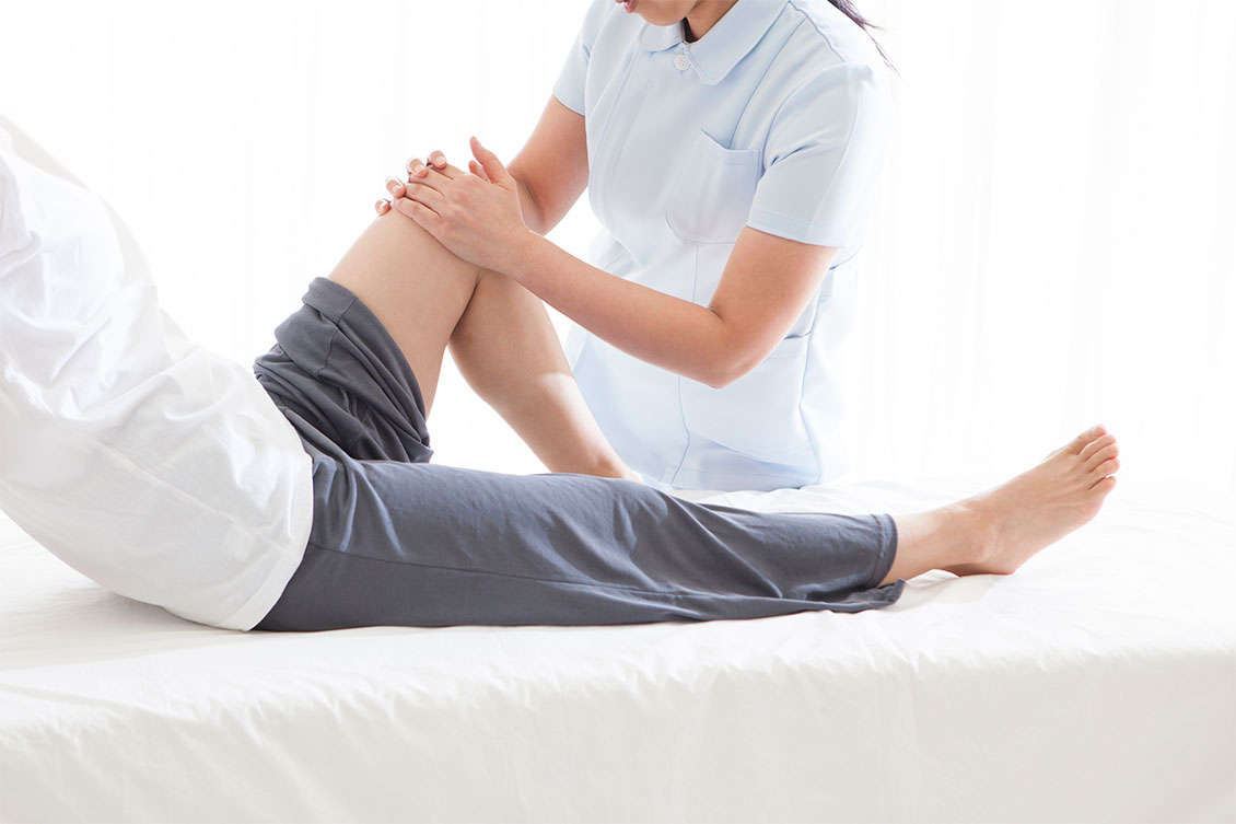 mobile physiotherapie knieschmerz