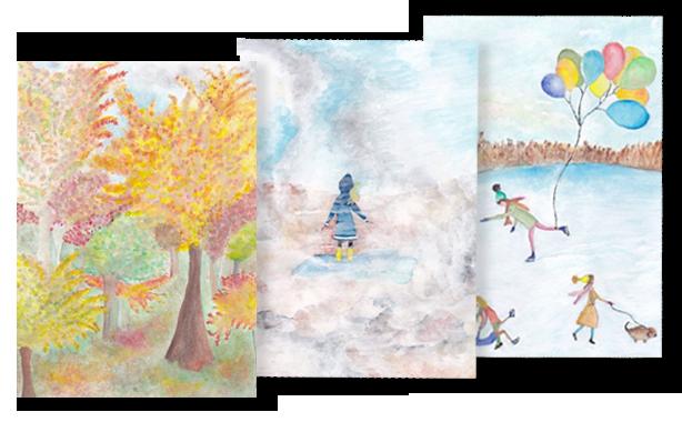 Aquarell Postkarten